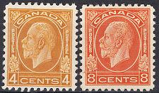 Canada KGV Medallion High Values, Scott 198, 200, VF unused, catalogue - $145