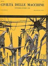 CIVILTÀ DELLE MACCHINE n° 5 SETTEMBRE - OTTOBRE 1960