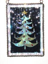J DEVLIN GLASS Art Vintage Back Iridescent Christmas Tree Ornament NIB