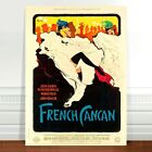"""Vintage Burlesque Poster Art ~ CANVAS PRINT 24x18"""" French Cancan"""