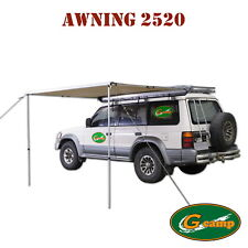 G Camp 2.5m Awning Roof Top Tent Camper Trailer 4wd 4x4 Camping Car Rack