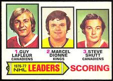 1977-78 OPC O PEE CHEE #3 STEVE SHUTT GUY LAFLEUR MARCEL DIONNE NM SCORE LEADERS