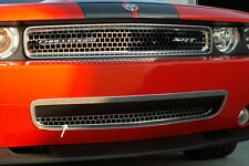Dodge Challenger Grille Overlay Style Lower Brushed 2008-2010-152015
