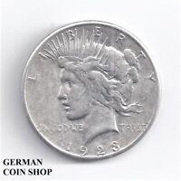 Silber 1 Dollar 1923 S USA - Silver US 1 $ Peace Dollar