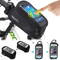 Roswheel Cycling Bike Front Top Frame Pannier Tube Bag Case Cell Phone Holders