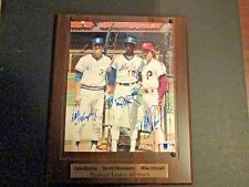 Dale Murphy, Mike Schmidt,Darryl Strawberry  8x10 Signed w/COA on 12 x 15 Plaque