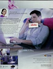 THAI AIRWAYS AIRBUS A380 & 747 2013 WI- FI IN SKY BANGKOK TO LONDON 2 FLTS AD