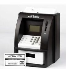 DIGITAL PIGGY BANK ATM Machine Card Money Coin Saving Counter Bank Box