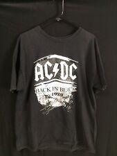 AC/DC 1980 Retro Back In Black T Shirt XL