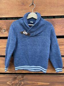 janie and jack Boys Blue Sweater Size 4