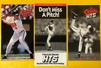 1991-1994 Cal Ripken Jr Vintage Baseball LOT 3 Baltimore Orioles schedules card