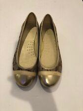 coach ballet flats 8B Cecile Gold Color Q1834