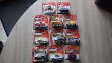 11x voitures Cars MATCHBOX blister box cardboard vintage 2000's