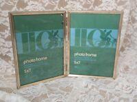 Vintage Picture Frame Shabby Ornate Gold Filigree Design Art Two Set 5 X 7 A