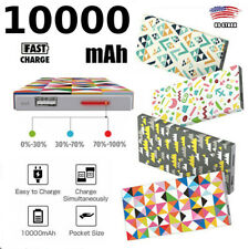 10000mAh Power Bank Silicone Cover portable USB Battery Charger Android IPHONE W