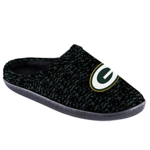 Green Bay Packers Men's Poly Knit Cup Sole Slippers
