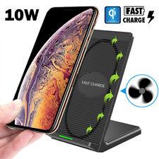 10W Schnelles kabelloses Ladegerät Halterung Stand für Samsung Galaxy S10 iPhone