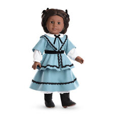 """American Girl ADDY SCHOOL OUTFIT for 18"""" Dolls NEW Blue Beforever Skirt Bows"""
