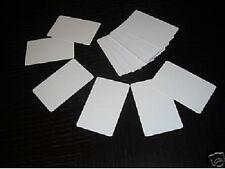 50 PVC Plastic Photo ID Blank Credit Card 30Mil White