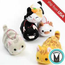 Genuine Amuse Tsuchineko Higebukuro Cat Plush Collection Ball Chain Mascot Cute