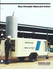 Equipment Brochure - Ingersoll-Rand - Portable Water Jet Cutter - 1987 (E4760)