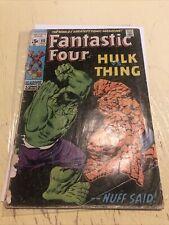 Fantastic Four #112 Marvel - July 1971 Hulk vs. Thing HTF Key CGC It Classic