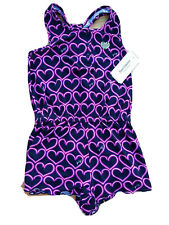 NWT Girl JUICY COUTURE Heart Black Shorts Jumpsuit Size 4 5 Years romper summer