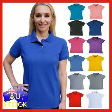 Polo Shirt Unbranded Machine Washable Solid Tops & Blouses for Women