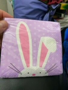 Lilac Cute Easter Bunny Bev Napkins New!!!