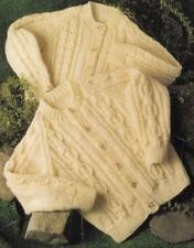 ARAN Knitting Pattern BABY Children CABLE Cardigans Size 51-71cms 2 DESIGNS