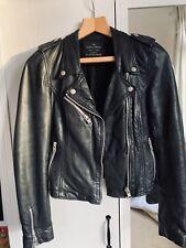 Zara Genuine Leather Biker Jacket S