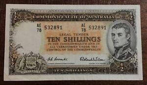 Australia, Commonwealth of Australia, 10 Shillings, 1961 Issue VF