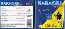 Karaoke CD+G Populaires Francais Vol.5 CDG BRAND NEWat MusicaMonette from Canada