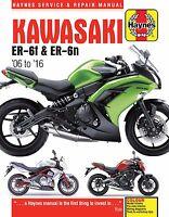 2006-2016 Kawasaki Ninja EX650 EX ER 650 650R ER6 ER6N HAYNES REPAIR MANUAL 4874