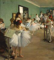 "Degas 'The Dancing Class'  1876 Art Reproduction / 1952 Lithograph Size 9"" X 8"""