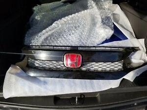 2016 2017 2018 Honda Civic Black Front OEM Grille JDM Red Badge