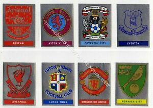 20 x Panini Football 91 Foil Stickers. Team Badges & World Cup