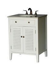 "26"" Cottage Style Single Sink Bathroom Vanity Model 1128-26 W"