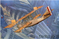 Roden 049 - Curtiss H-16, Fighter-biblane, USA - 1/72 Scale Model Kit 411 mm