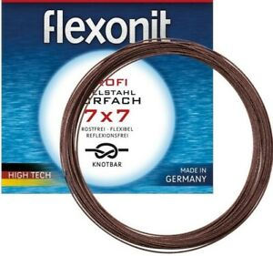 Flexonit 7x7 10 Meter Stahlvorfach Edelstahl 0.27 0.36 0.45 0.54 GERMANY