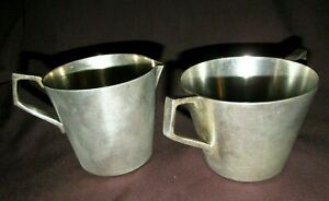 Vintage Open Sugar Bowl & Creamer Jug Hallmark OXFORD EPNS A1 Art Deco Era