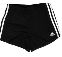 Adidas Girls' Black 3 White Stripes Shorts