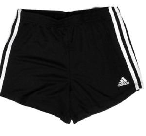 Adidas Girls' Black 3 White Stripes Shorts