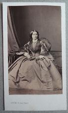 Photo Cdv Albuminé Femme Par Levitsky Paris Vers 1860