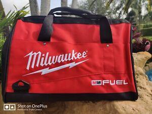 Milwaukee 16 Inch Heavy Duty Deep Wide Mouth Tool Bag W/6 Pockets