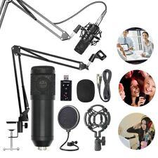 BM800 Pro Kondensator Mikrofon Microphone Kit Komplett Set für Studio Live D6G5