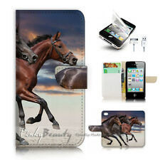 ( For iPhone 4 / 4S ) Flip Case Cover P2371 Horse