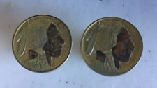 Vintage Cuff Links Made From 1913 Buffalo Nickel Coins Jewelry No Reserve