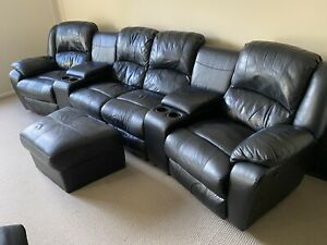 used leather lounge suites
