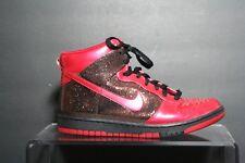 Nike Dunk High Skinny 2009 Multi Red Sparkle Glitter Women 7.5 Athletic Hip EUC